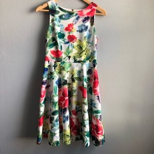 Eliza J floral fit and flare dress with pockets 4.